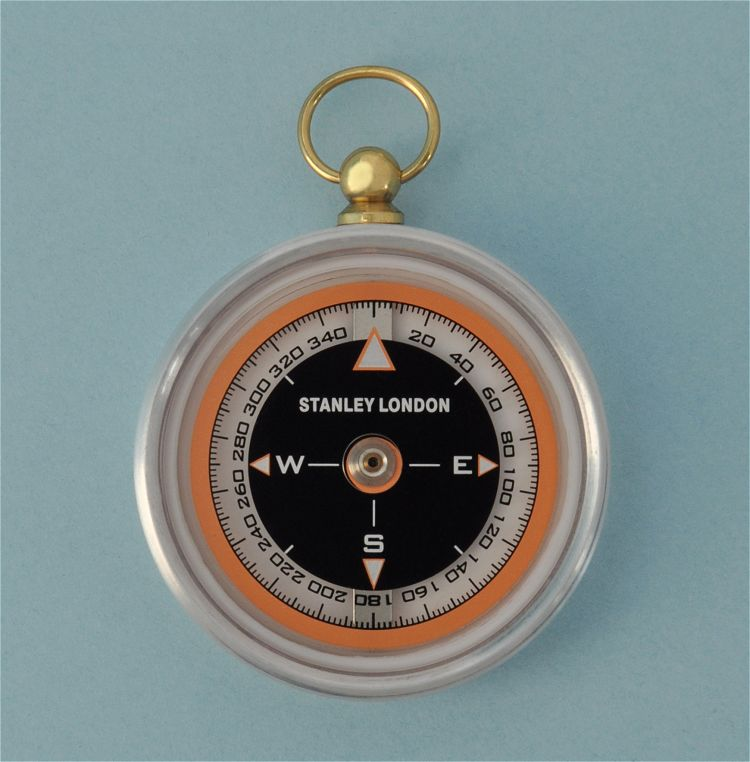 Aluminum Aviator's Pocket Compass