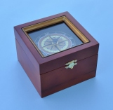 Nautical Compass Rose Quartz Clock