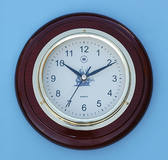 Wall Clock on Cherry Wood Base