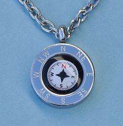 Stainless Steel Cardinal Points Compass Pendant