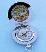 Inside of Dalvey Voyager Liquid Damped Pocket Compass