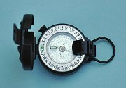 Francis Barker M73 Black Compass with Lid Open