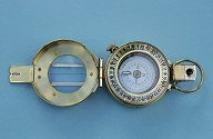 Francis Barker Brass M73 Presentation Compass with Lid Open