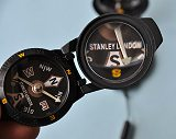 Stanley London Black Luminescent Pocket Compass with 4-Power Magnifier