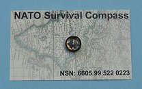 Francis Barker NATO 1605 Survival Compass on Instruction Card