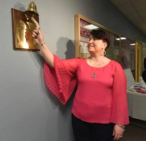 Walnut Plaque with Brass