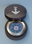 Round Inlaid Compass Open