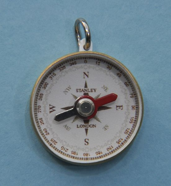 Solid Brass Sea Scout Open Faced Pocket Compass