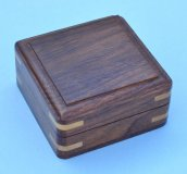Small Plain Hardwood Storage Case Closed