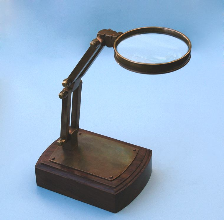Solid Brass Adjustable Stand Magnifier