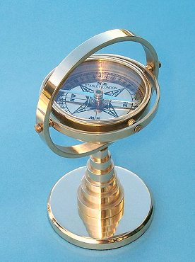 Regular Sized Gimbaled Desk Stand Compass