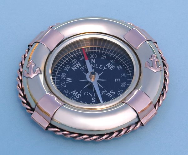Life Ring Buoy Paperweight Compass