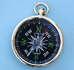 Polished Brass Pocket Compass