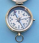 Compass with lid opened