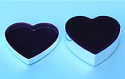 Medium  Heart Shaped Jewelry Box with Lid Off