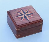 Optional Large Hardwood Case with Hand Inlaid Compass Rose