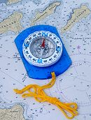 Map Compass on Nautical Chart