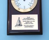 Custom Engraved Piano Finish Clock and Thermometer Plaque
