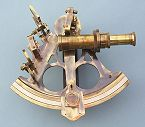 Antique Finish Sextant Front View
