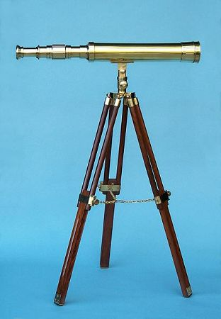 19-inch Polished Brass Telescope on a Stand