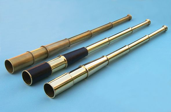 35 inch Brass Spyglass Telescopes with Hardwood Cases
