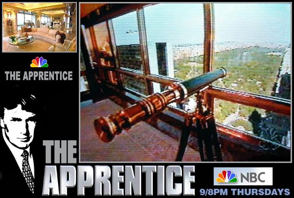 30-inch Stanley London Polished Brass Telescope shown on Season 1, Episode 1 of NBC's The Apprentice
